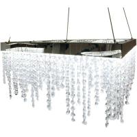 ANTELAO 39282, Suspensie LED 500X500 crom/cristal