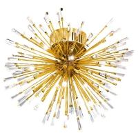 VIVALDO 1 39253, Plafoniera LED/19 placat cu aur/cristal
