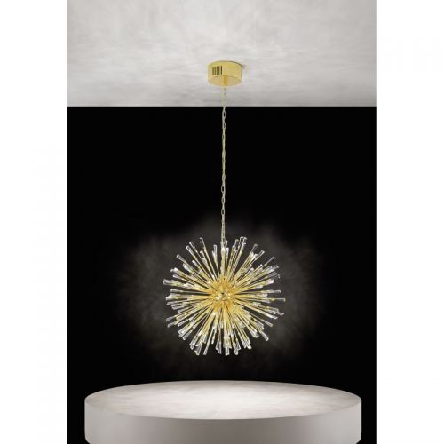 VIVALDO 1 39255, Candelabru LED/21 placat cu aur/cristal