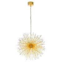 Candelabru LED cristal VIVALDO 1 39256, H:110-285cm, placat cu aur, 32xG4-LED