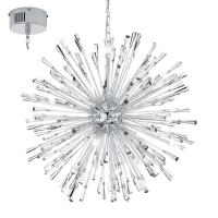 VIVALDO 1 39261, Candelabru LED/21 crom/cristal