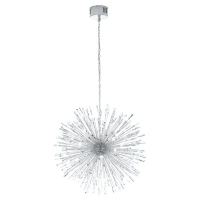 Candelabru LED cristal VIVALDO 1 39262, H:65-285cm, crom, 32xG4-LED