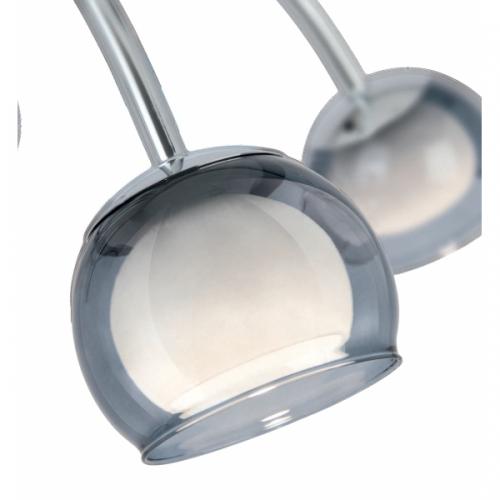 MALAGON 39149, Suspensie LED/8 crom/negru-transparent/alb