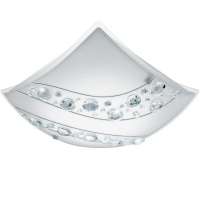 NERINI 95578, Aplica/Plafoniera LED 340X340 alb/cristal