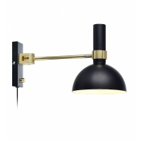 Lampa citit cu variator de intensitate LARRY 106970, negru/alama, E27-60W