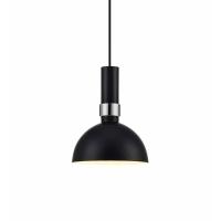 LARRY 106861, pendul negru/crom, D19cm, H150cm