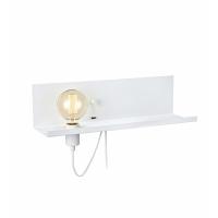 MULTI 106969, lampa citit E27 + dimmer si priza USB, alba, 50cm