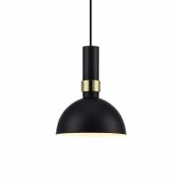 LARRY 106974, pendul negru/alama, D-19cm, H-150cm