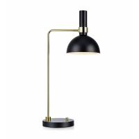 LARRY 106973, lampa birou, negru/alama, cu variator de intensitate