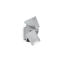 Spot dublu ZEUS AP2 129532, cubic, orientabil, aluminiu