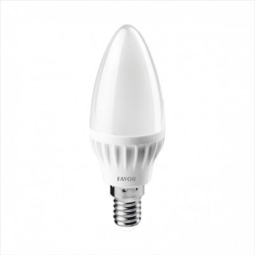 Bec LED C37 5W E14 450 lm 6500K, lumina zilei