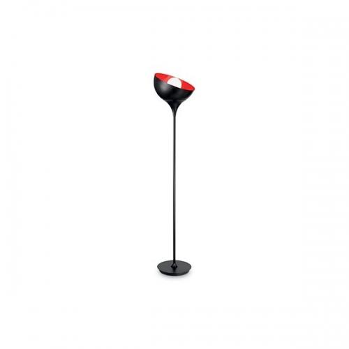 Lampadar de bar STELO PT1 132617, negru/rosu
