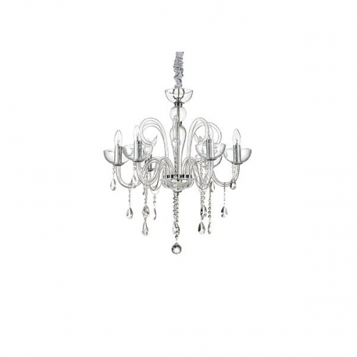 Lustra cristal bucatarie CANALETTO SP6 TRASPARENTE 027623, H70-165cm