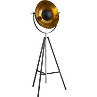 Lampadar eclectic XIRENA 58286, negru/auriu, H-180cm