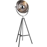 Lampadar eclectic XIRENA 58287, negru/argintiu, D-70cm
