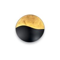 Aplica SUNRISE AP4 NERO E ORO 133300, D-35cm, negru/auriu