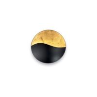 Aplica SUNRISE AP3 NERO E ORO 133270, D-27.5cm, negru/auriu