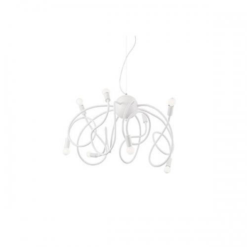 Candelabru MULTIFLEX SP8 BIANCO 141893, H80-160cm