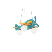 Lustra AVION-1 SP3 albastru/galben 136325, H40-112cm