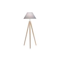 Lampadar TRIDENTE PT1 gri 146324, lemn natur, D-70cm