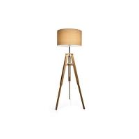 Lampadar KLIMT PT1 137827, tripod lemn natur, H-161cm
