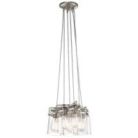 Lustra Brinley, borcane de conserve vintage, nichel, 5x100W