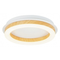 Plafoniera Audrey, 15W-LED, alb/fag, D-26.5cm
