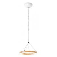 Lustra LED living moderna Audrey, 15W-LED, alb/fag, D-24cm