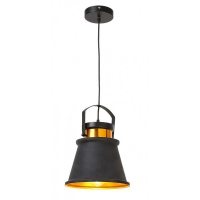 Pendul Dusan stil industrial, negru/auriu, H-105.5cm