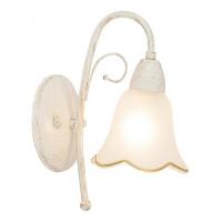 Aplica rustica Eloise, alb/auriu, H-27cm