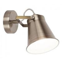 Aplica Martina, 1 bec, stil industrial, H-18cm, bronz, reglabila