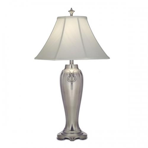 Lampa de bufet XXL Charleston, nichel/shantung alb, H-84cm