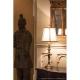 Lampa de bufet XXL Rye, alama/ivoriu, H-76cm