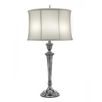 Lampa de bufet XXL Syracuse, nichel/alb, H-79cm