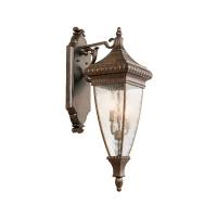 Aplica renascentista L Venetian Rain, bronz/clar, H-64cm, IP44