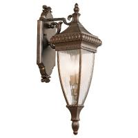 Aplica renascentista XL Venetian Rain, bronz/clar, H-79cm, IP44