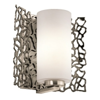 Aplica Silver Coral, H-23cm, gri argintiu Pewter