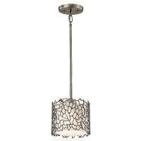 Pendul Silver Coral, H=30-122cm, gri argintiu Pewter