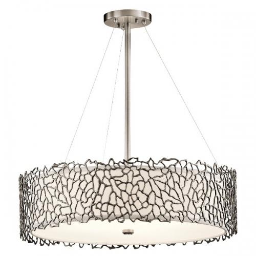 Lustra Silver Coral, D-56cm, 4x100W-E27, gri argintiu