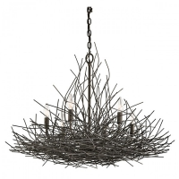 Candelabru loft Organique, bronz, D-77cm, H=73-241cm, 6x60W