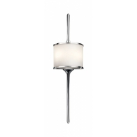 Aplica baie Mid-Century Mona H-56cm, crom, IP44, 2x3,5W-LED