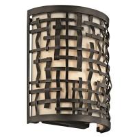 Aplica Art Deco Loom, bronz/alb, L-21cm, H-25cm, 1x60W