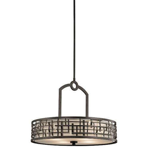 Candelabru Art Deco Loom, bronz, D-61cm, H-51cm, H=55-145cm, 4x100W