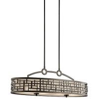 Suspensie dining Art Deco Loom, bronz, L-91cm, H=40-130cm, 4x100W