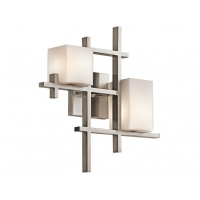 Aplica design City Lights, nichel/alb, H-41cm, L-39cm, 80W