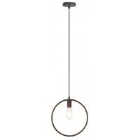 Pendul Levi rotund, 1 bec, stil industrial, H:34-122cm