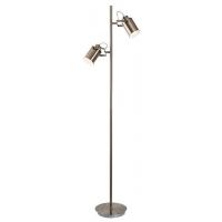 Lampadar Peter, 2 becuri, stil industrial, H:153cm, bronz