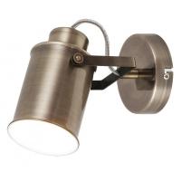 Spot Peter, 1 bec, stil industrial, H:17cm, bronz, orientabil