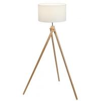 Lampadar lemn Soren, D:40cm, H:134cm, abajur textil