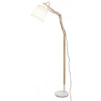 Lampadar lemn Thomas, H:157cm, 1xE27, abajur textil